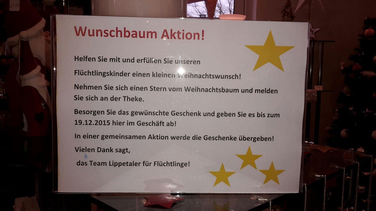 Wunschbaum Aktion